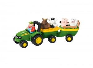 Traktor s prívesom a zvieratkami, multimediálna hračka John Deere