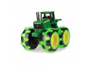 Svietiaci monster truck John Deere , hračka Monster Traktor so svietiacimi kolesami