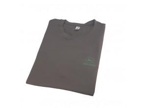 Jednoduché tričko John Deere, farba armádna šedá