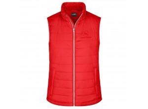 Dámska prešívaná vesta John Deere v červenej farbe
