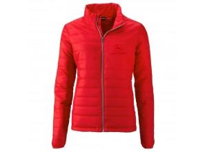 Dámska prešívaná bunda John Deere v červenej farbe
