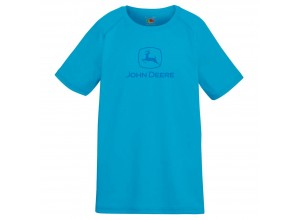 Detské športové tričko John Deere v tmavomodrej farbe