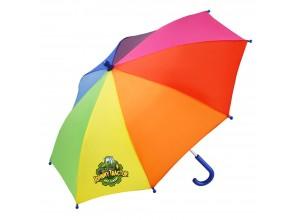 Detský dáždnik John Deere s dúhovým motívom a obrázkom Johnnyho a jeho priateľov