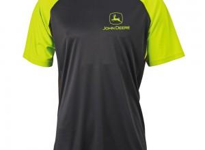 Športový dres John Deere v čierno-žltej farbe