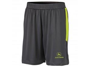Športové šortky John Deere v čierno-žltej farbe