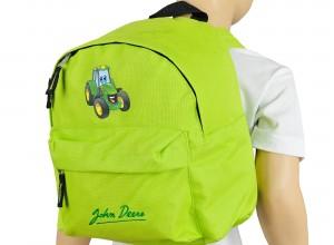 Detský batoh John Deere s obrázkom traktora Johny, sviežo zelený, JD BAG