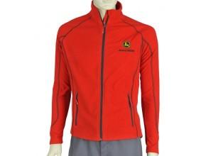 Dámska fleecová bunda John Deere  v červenej farbe