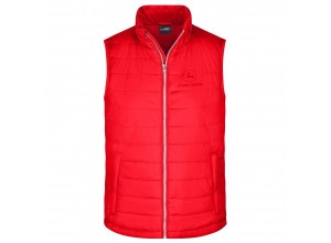 Pánska prešívaná vesta John Deere v červenej farbe