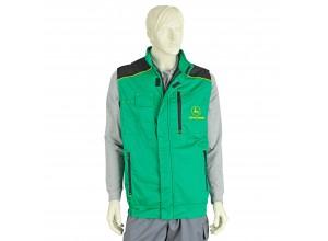 Pracovná vesta John Deere, zeleno-žltá, veľkosť 54