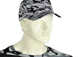 Šiltovka John Deere s maskáčovým vzorom, šedo-čierna, JD CAP