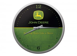 Nástenné hodiny John Deere  s logom