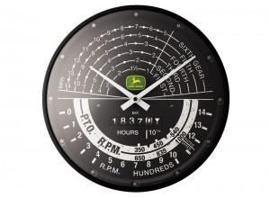 Nástenné hodiny John Deere s imitáciou tachometra