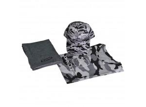 Set s maskáčovým vzorom pre mužov v sivej farbe