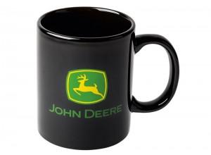 Šálka John Deere v čiernej farbe