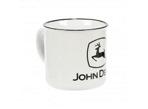 Keramický hrnček John Deere v bielej farbe